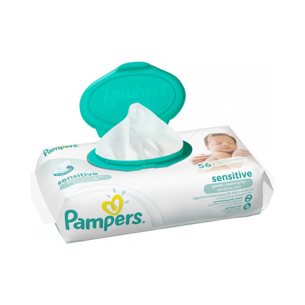 Pampers obrúsky sensitive 56 ks