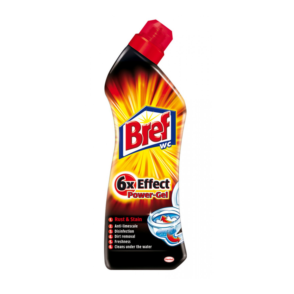 Bref 6 x Effect Power Gel Rust & Stain WC gel na hrdzu a škvrny 750 ml