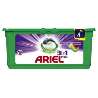 Ariel 3in1 Color gélové kapsule 28ks