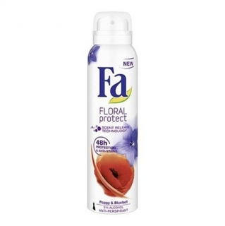 Fa Floral Protect Poppy & Bluebell deospray 150 ml